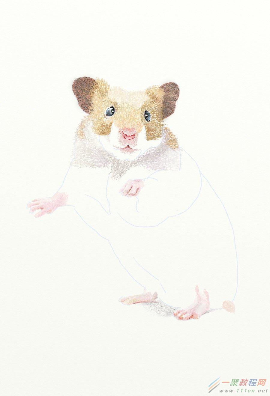 painter绘制一只可爱水粉效果老鼠教程